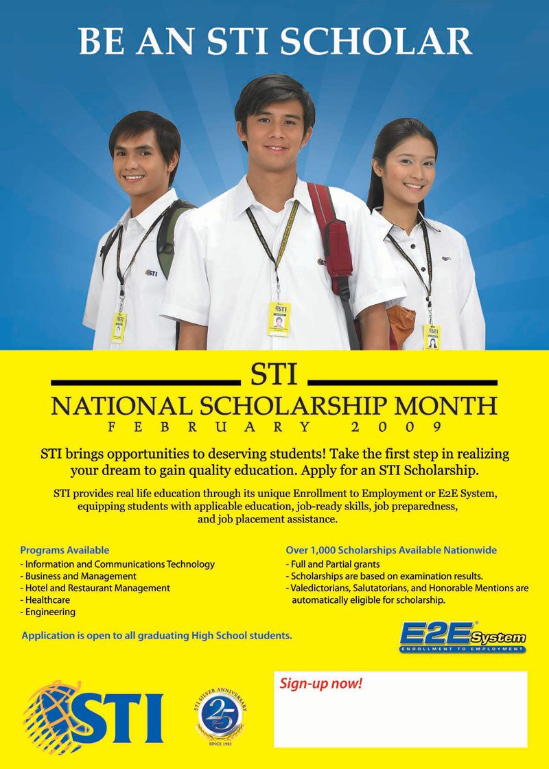 National Scholarship Month | STI Colleges and Education ...