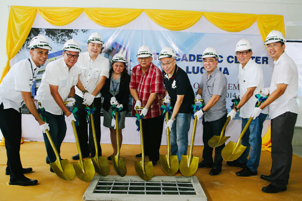 (Left to right) Mr. Reginald Robles, Engr. Arthur Carlos, Mr. Peter K. Fernandez, Ms. Venus Barreto,  Mr. Monico V. Jacob, Mr. Eusebio H. Tanco, Arch. Jose Ling, Engr. Manuel Mendoza, Engr. Martin K. Tanco